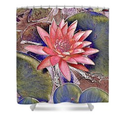 Beautiful Pink Lotus Abstract Shower Curtain