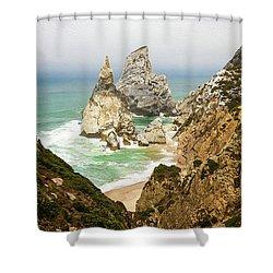 Beautiful Praia Da Ursa In Portugal Shower Curtain