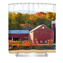 Beautiful Red Barn 2 Shower Curtain by Lanjee Chee