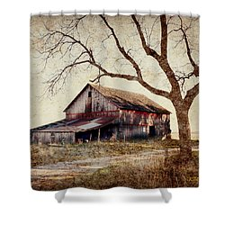 Beautiful Red Barn-near Ogden Shower Curtain by Kathy M Krause