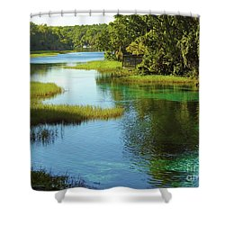 Beautiful River Shower Curtain