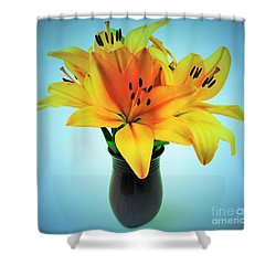 Shower Curtain featuring the photograph Beautiful Royal Lilies  by Ray Shrewsberry
