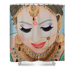 Beautiful Sikh Bride Shower Curtain
