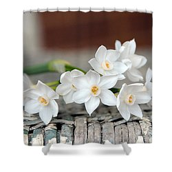 Beautiful Spring Paperwhites Shower Curtain