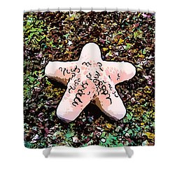 Beautiful Starfish In The Coral Reef Shower Curtain by Lanjee Chee