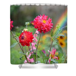 Beautiful Summer Flowers Shower Curtain by Jim Fitzpatrick