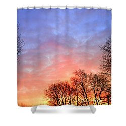 Beautiful Sunrise After Blizzard  Shower Curtain
