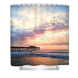 Beautiful Sunrise In Myrtle Beach South Carolina Usa Shower Curtain by Vizual Studio
