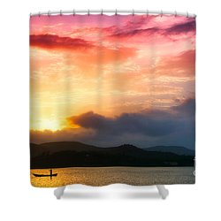 Beautiful Sunset Shower Curtain by Charuhas Images