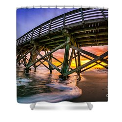 Beautiful Sunset In Myrtle Beach Shower Curtain by David Smith