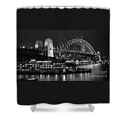 Beautiful Sydney Harbour In Black And White Shower Curtain