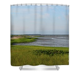 Beautiful Views Of Powder Point Bridge And Duxbury Bay Shower Curtain