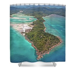 Shower Curtain featuring the photograph Beautiful Whitsundays by Az Jackson