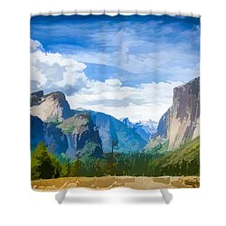 Beautiful Yosemite National Park Shower Curtain by Lanjee Chee