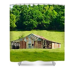 Beautifully Noble Barn Shower Curtain
