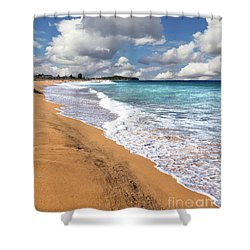 Beauty And The Beach By Kaye Menner Shower Curtain