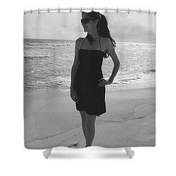 Beauty And The Beach Shower Curtain by Megan Cohen