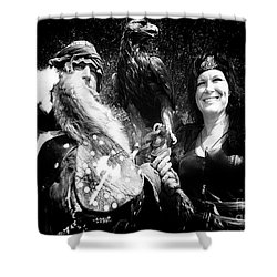 Shower Curtain featuring the photograph Beauty And The Beasts by Bob Christopher