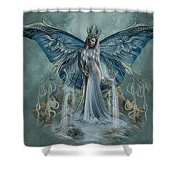 Beauty At Butterfly Falls Shower Curtain by Ali Oppy