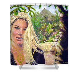 Beauty At Chalice Well Shower Curtain