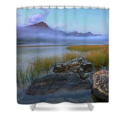 Beauty Creek Dawn Shower Curtain by Dan Jurak
