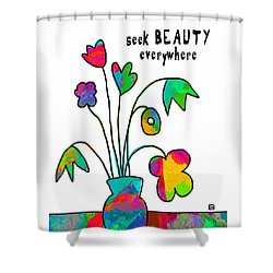 Shower Curtain featuring the painting Beauty Everywhere by Lisa Weedn