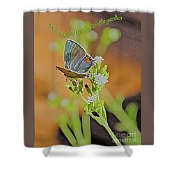Beauty Flutters By Shower Curtain