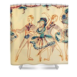 Beauty In Blue Ballet  Shower Curtain