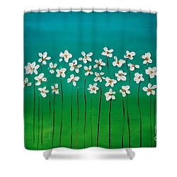 Beauty In Blue Shower Curtain