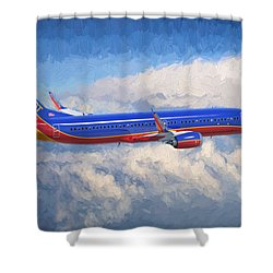 Beauty In Flight Shower Curtain by Garland Johnson