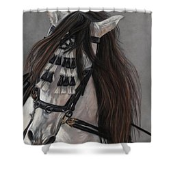 Beauty In Hand Shower Curtain by Sheri Gordon