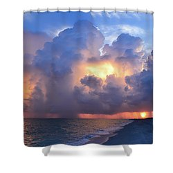 Shower Curtain featuring the photograph Beauty In The Darkest Skies II by Melanie Moraga