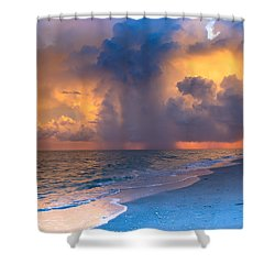 Shower Curtain featuring the photograph Beauty In The Darkest Skies by Melanie Moraga