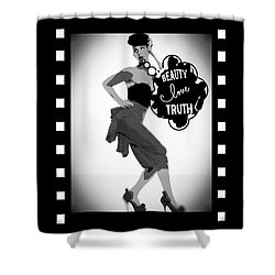 Shower Curtain featuring the photograph Beauty Love Truth by Lisa Piper
