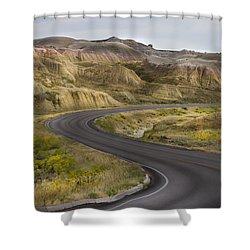 Beauty Of The Badlands South Dakota Shower Curtain by John Hix