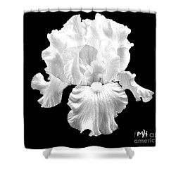 Beauty Queen In Black And White Shower Curtain