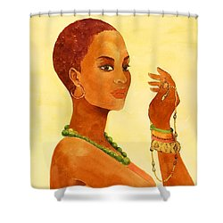 Beauty Stance Shower Curtain
