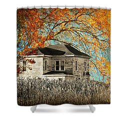 Beauty Surrounds Deserted Home Shower Curtain by Kathy M Krause