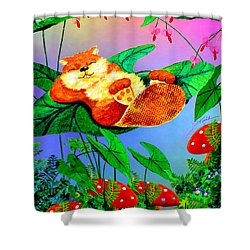 Beaver Bedtime Shower Curtain by Hanne Lore Koehler
