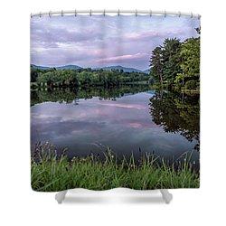 Beaver Lake Reflections Shower Curtain
