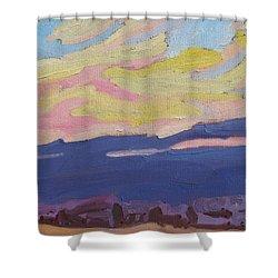 Beaver Sunset Shower Curtain