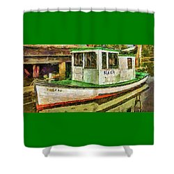 Shower Curtain featuring the photograph Beaver The Old Fishing Boat by Thom Zehrfeld