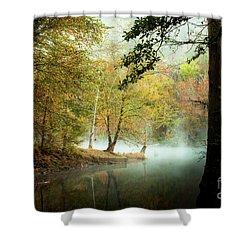 Beavers Bend Creek In Fall Shower Curtain by Iris Greenwell