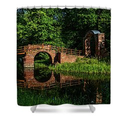 Beckerbruch Bridge Reflection Shower Curtain