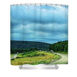 Beckoning Road Shower Curtain