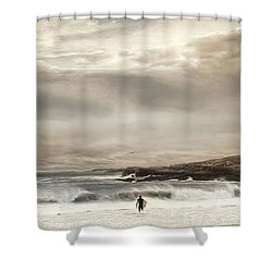 Shower Curtain featuring the photograph Beckoning Surf by Robin-Lee Vieira