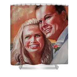 Becky And Chris Shower Curtain by Marilyn Jacobson