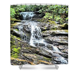 Becky Branch Falls In Summer Shower Curtain