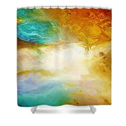 Becoming - Abstract Art Shower Curtain by Jaison Cianelli