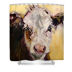 Bed Head Cow Shower Curtain